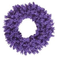 """30"""" Flocked Purple Fir Wreath  180T"""