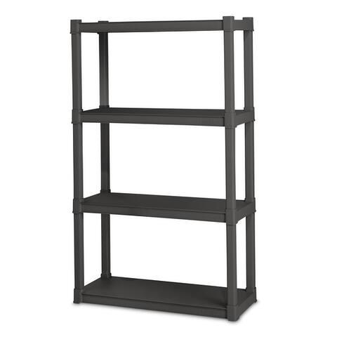 STERILITE 4 Shelf Unit, Flat Gray - Case of 1