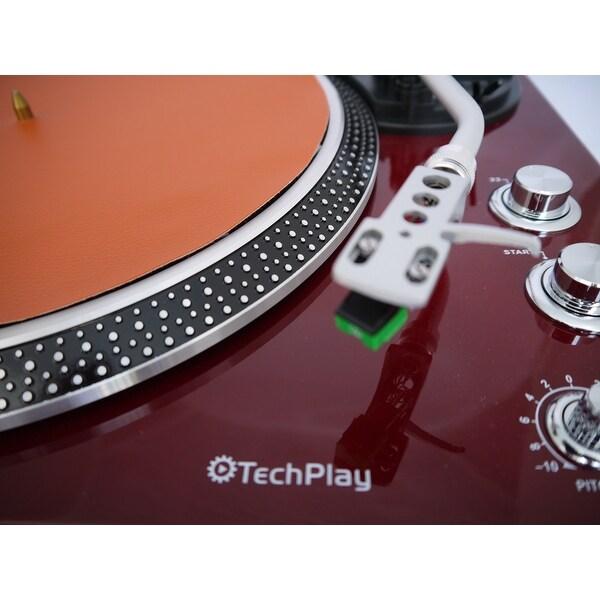 TechPlay IEP212 TN Leatherette Anti Static turntable mat in TAN