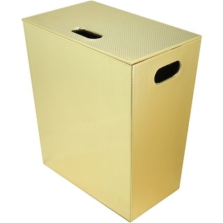WS Bath Collections Ecopelle 2262  Ecopelle Leather Laundry Basket