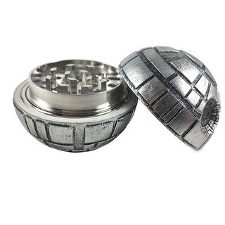 "Death Star Herb Spice Grinder Aluminum 3 pc 40mm (1.5"") (1)"