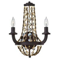 Fredrick Ramond FR42862 2 Light Wall Sconce from the Hamlet collection - Vintage Bronze