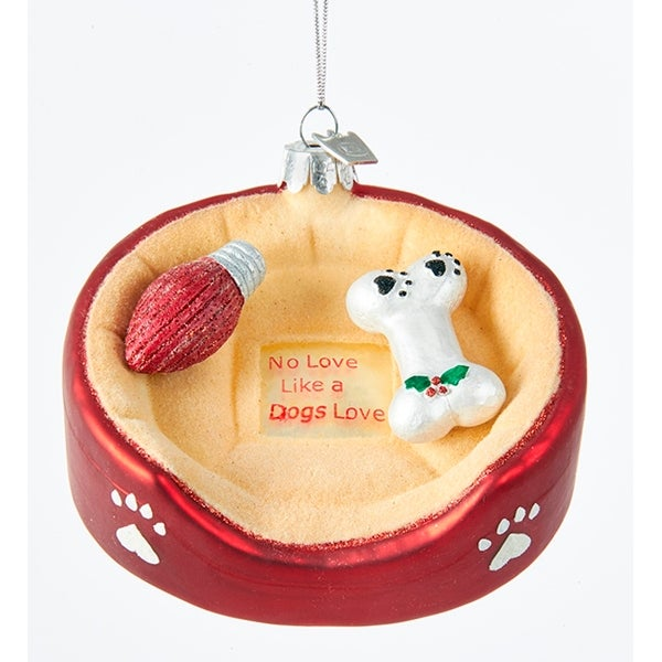 Shop Dog Bed With Bone Christmas Holiday Ornament Glass