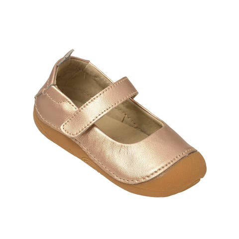 L`Amour Little Girls Copper Hook and Loop Sporty Mary Jane Shoes