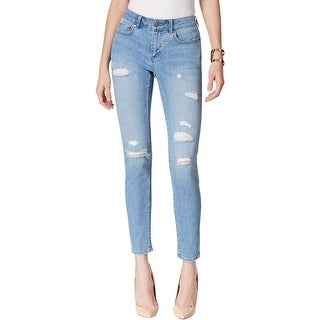 Two by Vince Camuto Womens Skinny Jeans Denim Destroyed