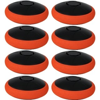 Sunnydaze Tabletop Air Hockey Electronic Rechargeable Hover Puck - Set of 8 - Orange