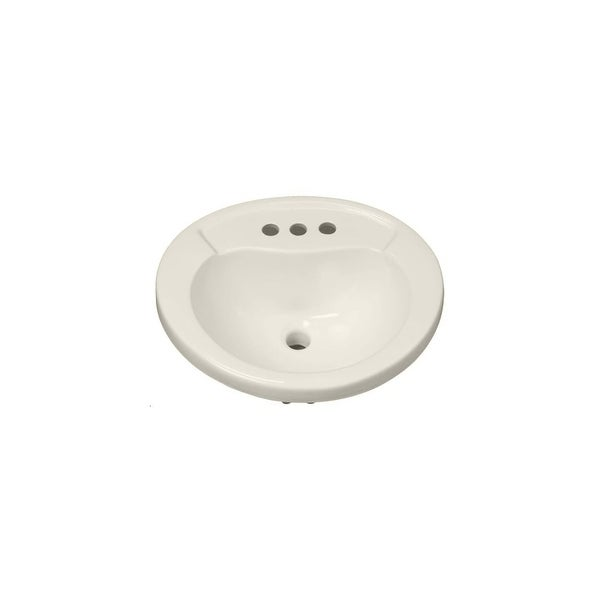 "Mirabelle MIRPR454 Provincetown 20"" Porcelain Drop In Bathroom Sink with Overflow - White"