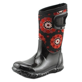 Bogs Kaleidoscope Toddler Round Toe Canvas Black Rain Boot