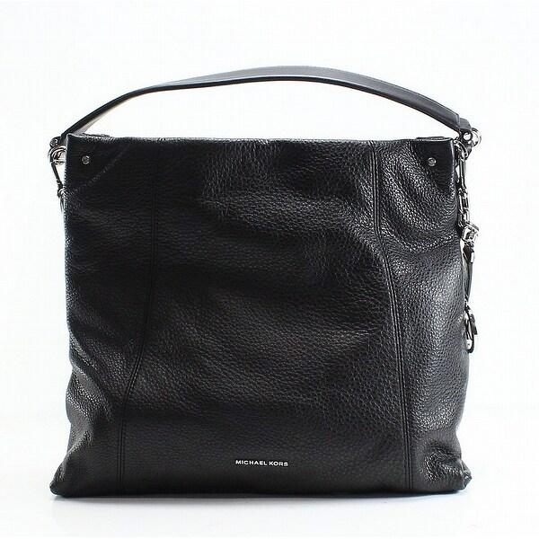 ab0085694412f9 Shop Michael Kors Black Pebble Leather Lex Large Convertible Hobo ...