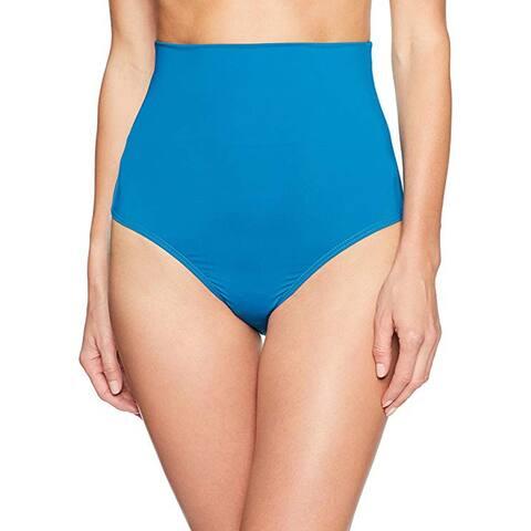 La Blanca Convertible High Waist Hipster Bikini Swimsuit Bottom, Marina, 4
