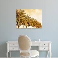 Easy Art Prints Skip Nall's 'Palms on Brown I' Premium Canvas Art