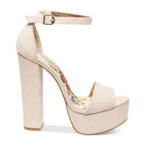 Madden Girl Womens WALFLWR Canvas Open Toe Special Occasion Platform Sandals