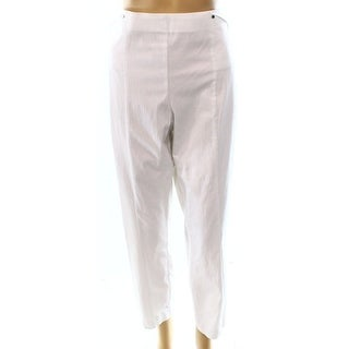Alfani NEW Solid Bright White Women's Size 14 Pull-On Skinny Pants