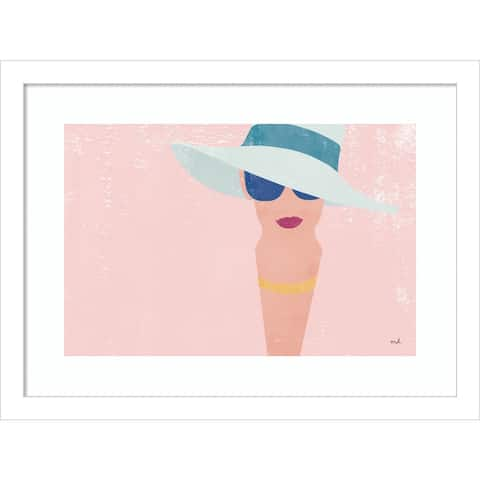 Fashion Forward (Woman) by Moira Hershey Framed Wall Art Print