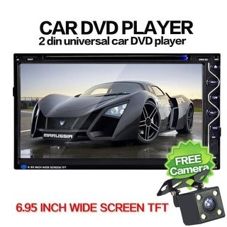 7 Double 2DIN Touch Car Stereo CD DVD Player Bluetooth USB SD FM TV Radio+Camera