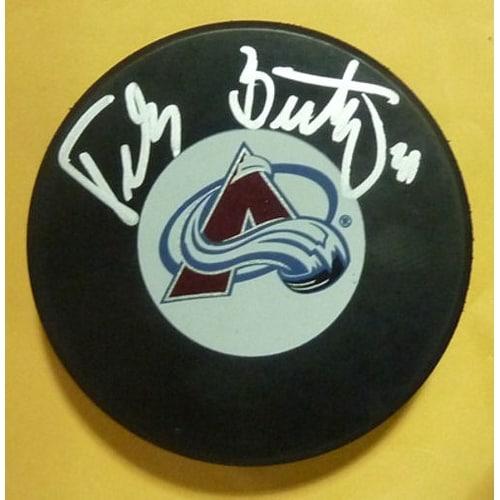 Peter Budaj Autographed Colorado Avalanche Puck