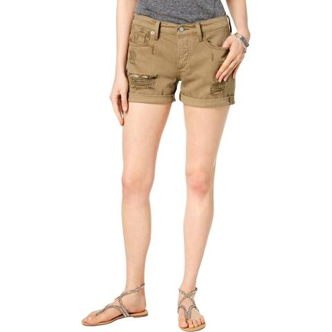 Lucky Brand Womens Denim Shorts Distressed Cotton