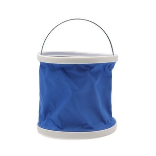 9L Outdoor Folding Collapsible Bucket Water Container Car Washing Barrel Blue