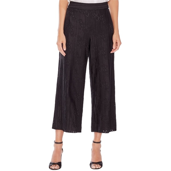 Vince Camuto Womens Lace Cropped Casual Wide Leg Pants. Opens flyout.