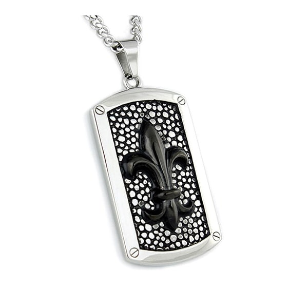 Stainless Steel Men's Dog Tag - 24 inches