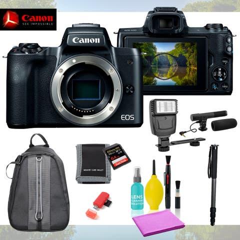 CanonEOS M50 Mirrorless Digital Camera (Body) 9pc Accessories Bundle