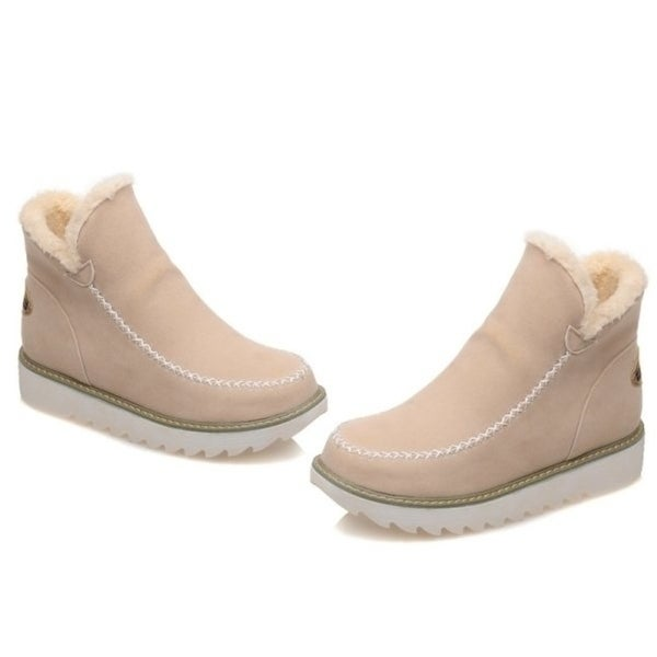 Fashion Women Boots Slip-On Fashion