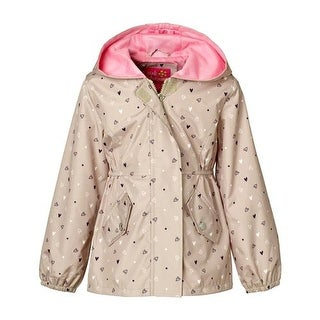 Pink Platinum Girls 2T-4T Heart Mesh Jacket