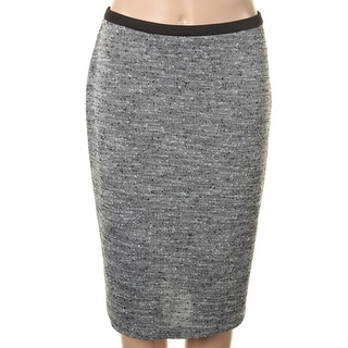Calvin Klein Womens Marled Knee-Length Pencil Skirt - 8