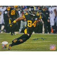 Antonio Brown Signed Pittsburgh Steelers 8x10 Black Alternate Jersey Photo JSA
