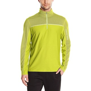 Calvin Klein Performance Textured Sweatshirt Lime Punch Yellow Large L
