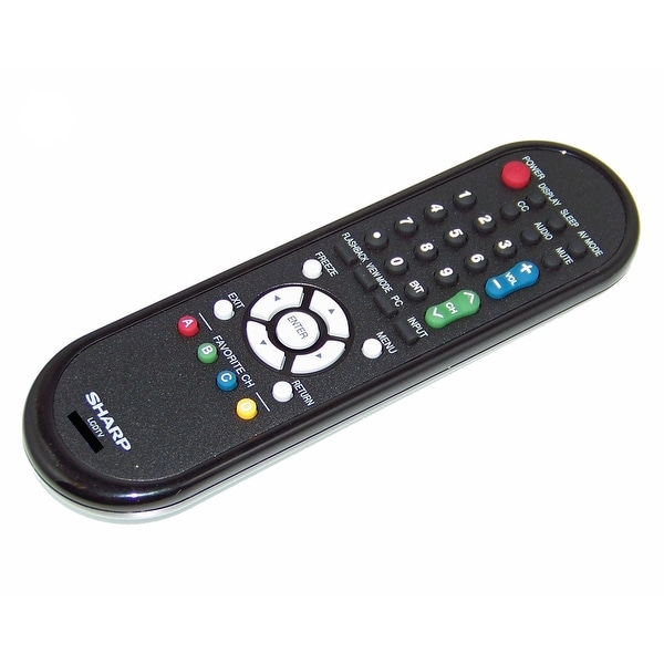 Sharp Remote Control Originally Shipped With: LC-C52700UN, LC-C5277UN, LC-C6077UN, LC-C6577UM, LC-60LE630U, LC-60E78UN