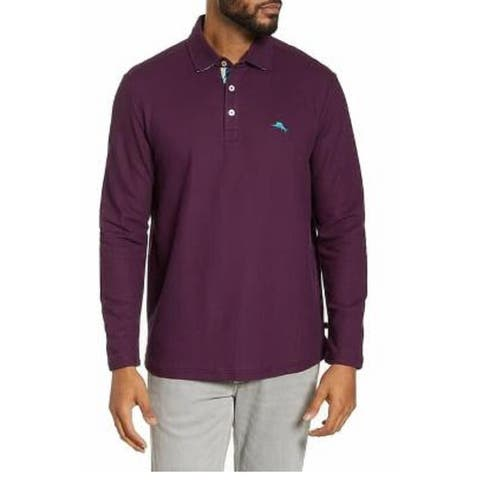 Tommy Bahama Men's La Jolla Cove Classic Fit Polo Shirt Purple Size Medium