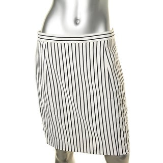 1 By O'2ND Womens Parker Striped Above Knee Straight Skirt - 8
