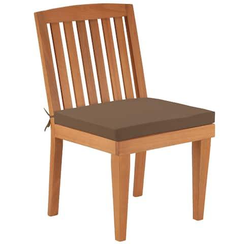 Eucalyptus Grandis Wood Dining Chair, Chocolate - N/A