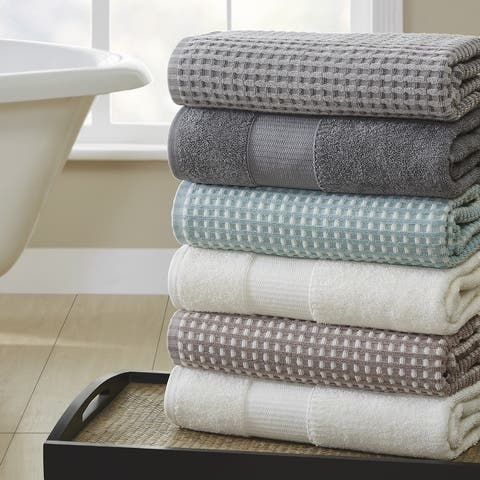 Modern Threads 6-Piece Yarn Dyed Cobblestone Jacquard Towel Set