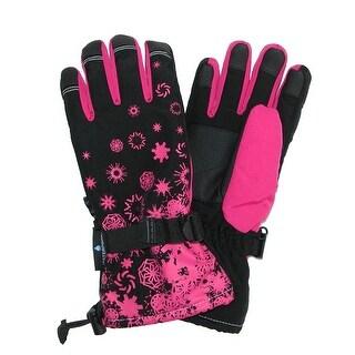 Grand Sierra Girl's 7-16 Snowflake Snowboard Gloves