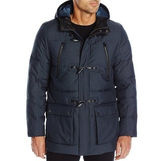 Calvin Klein NEW Navy Blue Mens Size Large L Padded Toggle Jacket
