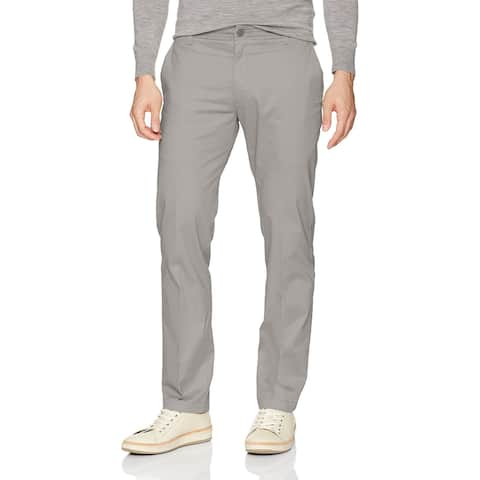 Lee Mens Pants Gray Size 38X29 Slim Fit Wrinkle-Resistant Chino Stretch