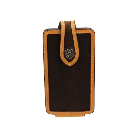 Ariat Western Cell Phone Case Digital Camo Leather Brown