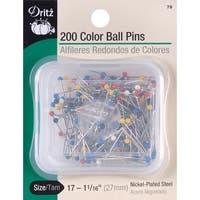 Color Ball Pins-Size 17 200/Pkg