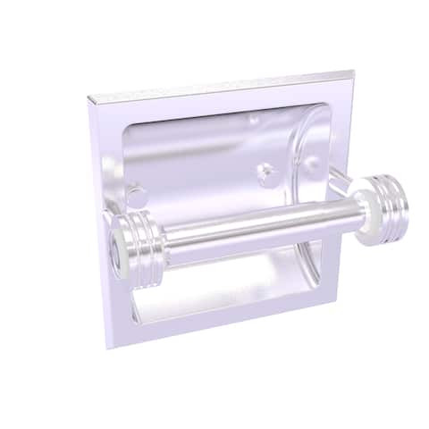 Allied Brass Clearview Collection Recessed Toilet Paper Holder with Dotted Accents