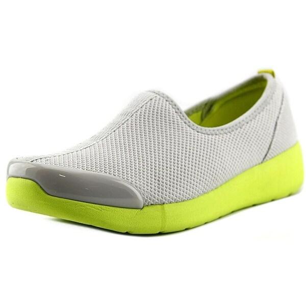 Easy Spirit e360 Fun Runner Women Round Toe Canvas Gray Walking Shoe