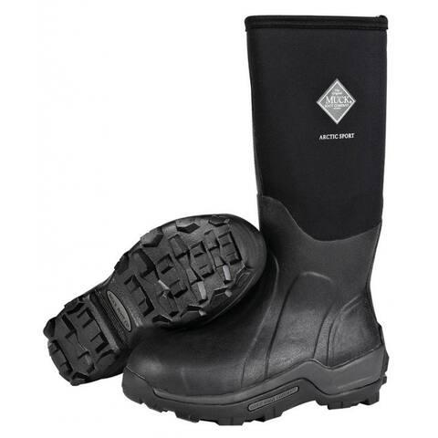 Muck Boot ASP000A-7 Arctic Sport Hi Boot, Black, Unisex - 7 Men/8 Women