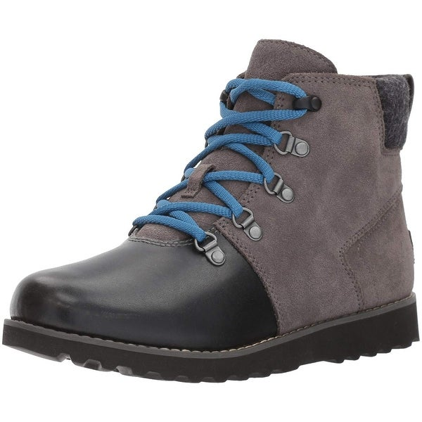 582d686488b Shop Kids Ugg Girls 1017306K Leather Ankle Zipper Snow Boots - Free ...