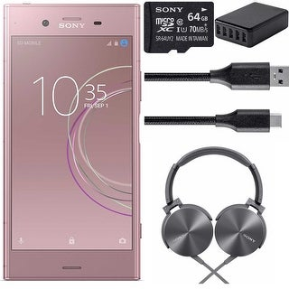 "Sony Xperia XZ1 Unlocked Phone 5.2"" Full HD HDR Display 64GB Venus Pink Bundle"