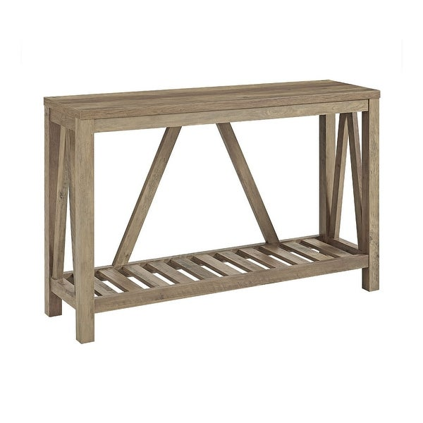Brilliant Shop Office Accents 52 A Frame Rustic Entry Console Table Beutiful Home Inspiration Xortanetmahrainfo