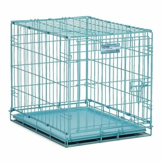 """Midwest iCrate Single Door Dog Crate Blue 24"""" x 18"""" x 19"""""""