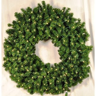 Christmas at Winterland WL-GWSQ-03-ICL 3 Foot Pre-Lit Incandescent Clear Sequoia Wreath