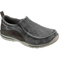 Skechers Men's Relaxed Fit Elected Drigo Loafer Charcoal