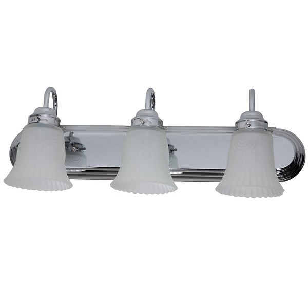 Boston Harbor RF-V-028-CH Three Light Vanity Wall Fixture, Chrome